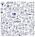 School - doodles set vector