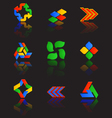 Icons set for web applications internet website vector