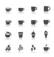 Coffee and coffee cup icons vector
