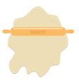 Roll out dough and wooden rolling pin plunger bake vector