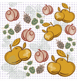Apple berry pattern vector