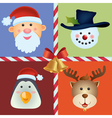 Christmas icon ornament vector