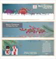 Merry christmas banner vertical background vector