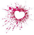 Heart on blob vector