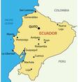 Republic of ecuador - map vector