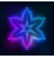 Cosmic shining abstract star vector