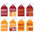 Set of social sale tags design template vector