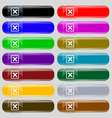 Cancel icon sign set from fourteen multi-colored vector