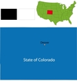 Colorado map vector