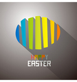 Abstract colorful easter egg background vector