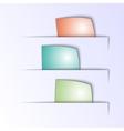 Paper multicolor tabs vector
