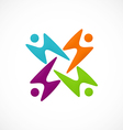 People group play color logo vector