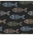 Seamless tile with 50s retro fish bone pattern vector