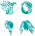 Hair fashion icon symbol of female beauty vector