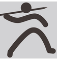 2145 javelin throw icon vector