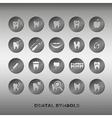 Set of dentistry symbols vector