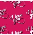 Seamless pattern of handwritten i love you vector