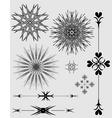 Ornaments black and gray vector