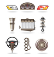 Car parts and accessories vector