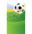 Burning soccer ball on playing field vector
