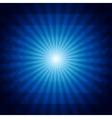 Deep blue dark geometric background with sunburst vector