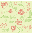 Romantic seamless background vector