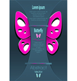 Modern background with decorate butterfly vector