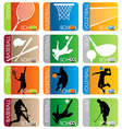 Sport school insignias set vector