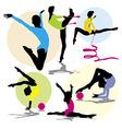 Set rhitmic gymnastics vector