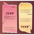 Vintage paper speech bubble vector