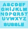 Bubble abstract alphabet vector
