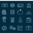 Money finance icons outline vector