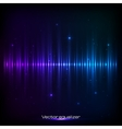 Dark blue shining equalizer vector