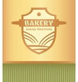 Logo for a bakery with a picture of a rolling pin vector