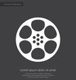 Video film premium icon white on dark background vector