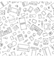 Mess of outline icons house appliance seamless vector