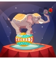 Circus elephant poster vector