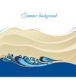 Beautiful beach and tropical sea vector