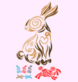 Rabbit ornate vector