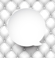 Paper white round speech bubble vector