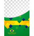 Abstract background in brazilian colors vector