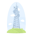 Cell tower with antennas vector