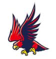Hawk mascot vector