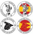 Spanish stamp vector