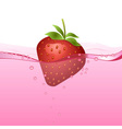 Strawberry drink vector