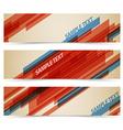 Set of retro horizontal banners vector