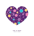 Molecular structure heart silhouette pattern frame vector