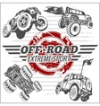 Emblem with off-road cars vector