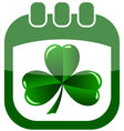Icon st patrick day in a calendar vector