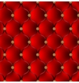 Red upholstery background vector